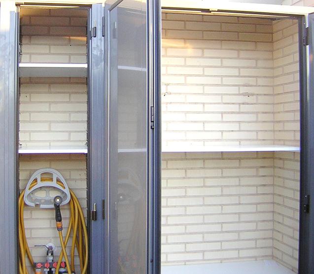Armarios a medida de aluminio para terrazas o interiores for Casetas aluminio para terrazas